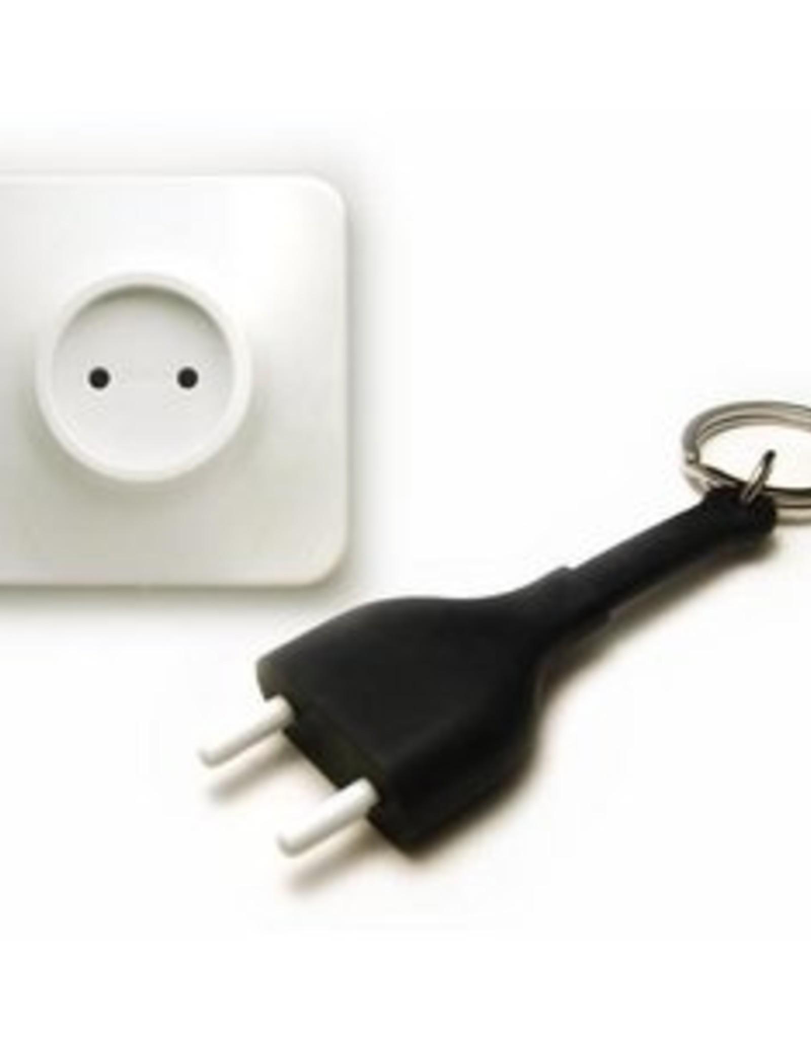 Qualy Sleutelhouder Unplug Zwart