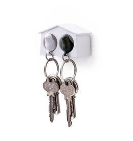 Qualy Sleutelhouder Mus Mini Duo Zwart