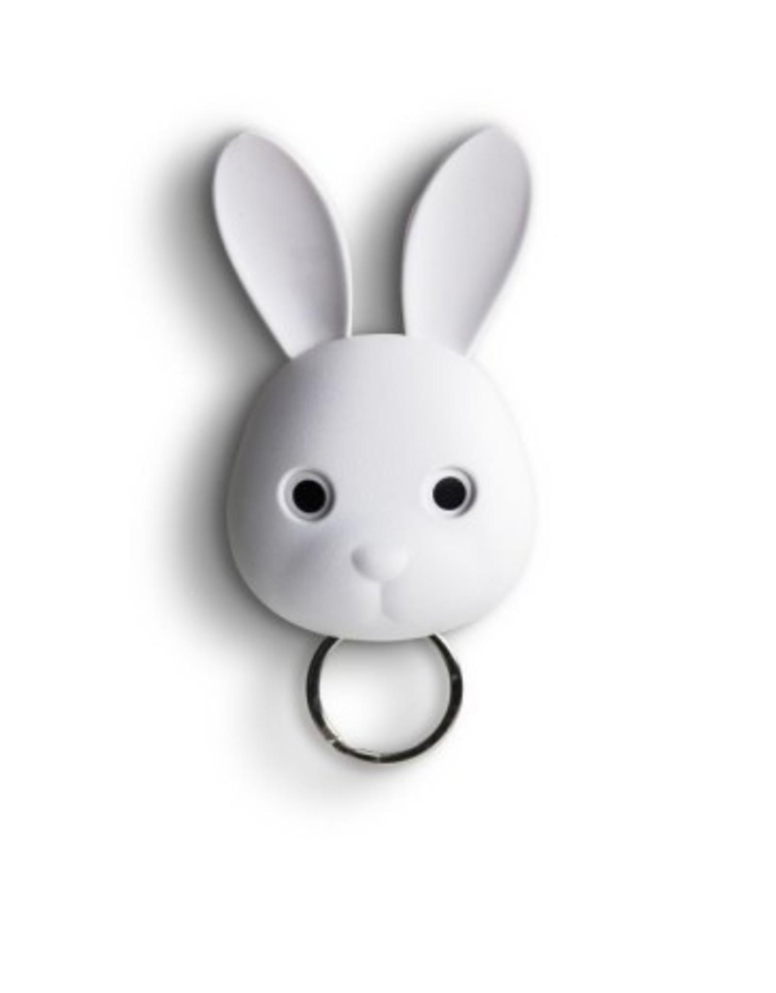 Qualy Sleutelhouder Bella Bunny Wit