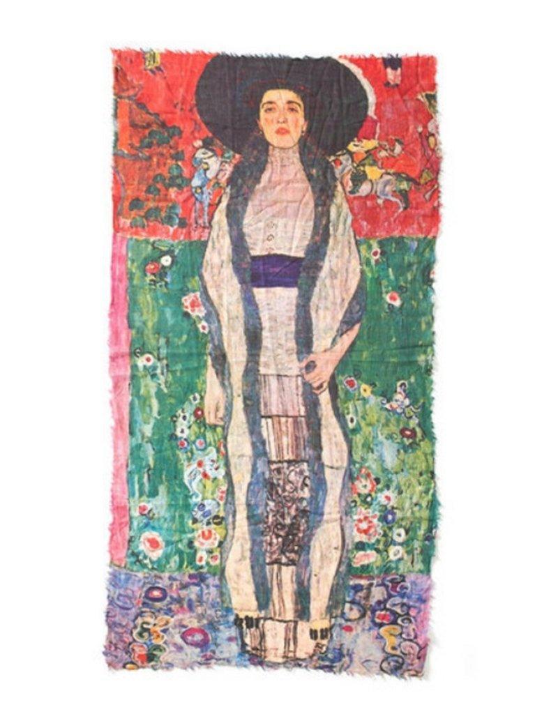 Otracosa Sjaal Klimt Vrouw Zwarte Hoed 100 x 180