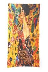 Otracosa Sjaal Klimt Vrouw Geel 100 x180