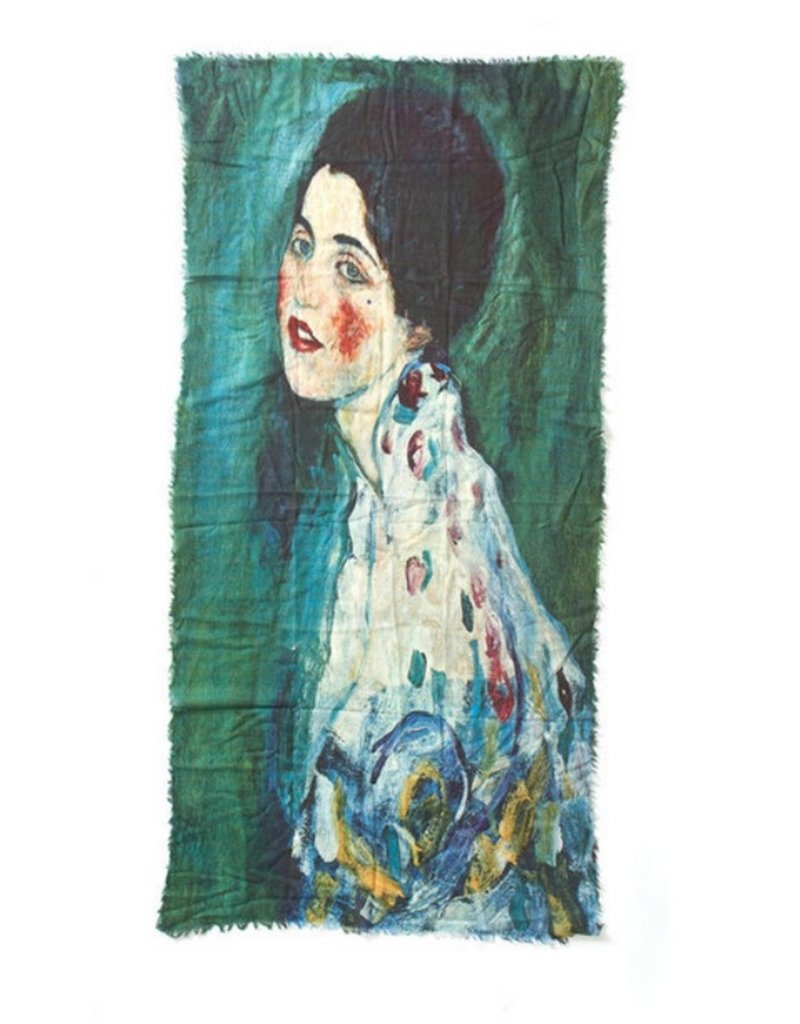 Otracosa Sjaal Klimt Vrouw Blauw Groen 100 x 180