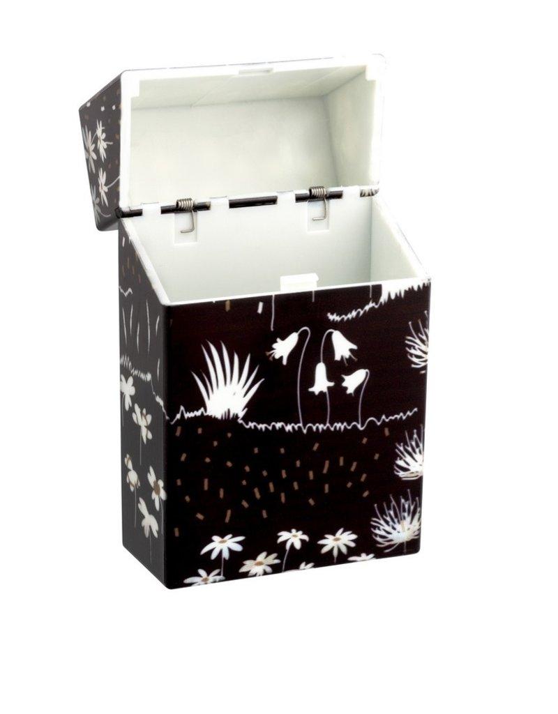 Pylones Sigarettendoosje Zwart Bloem