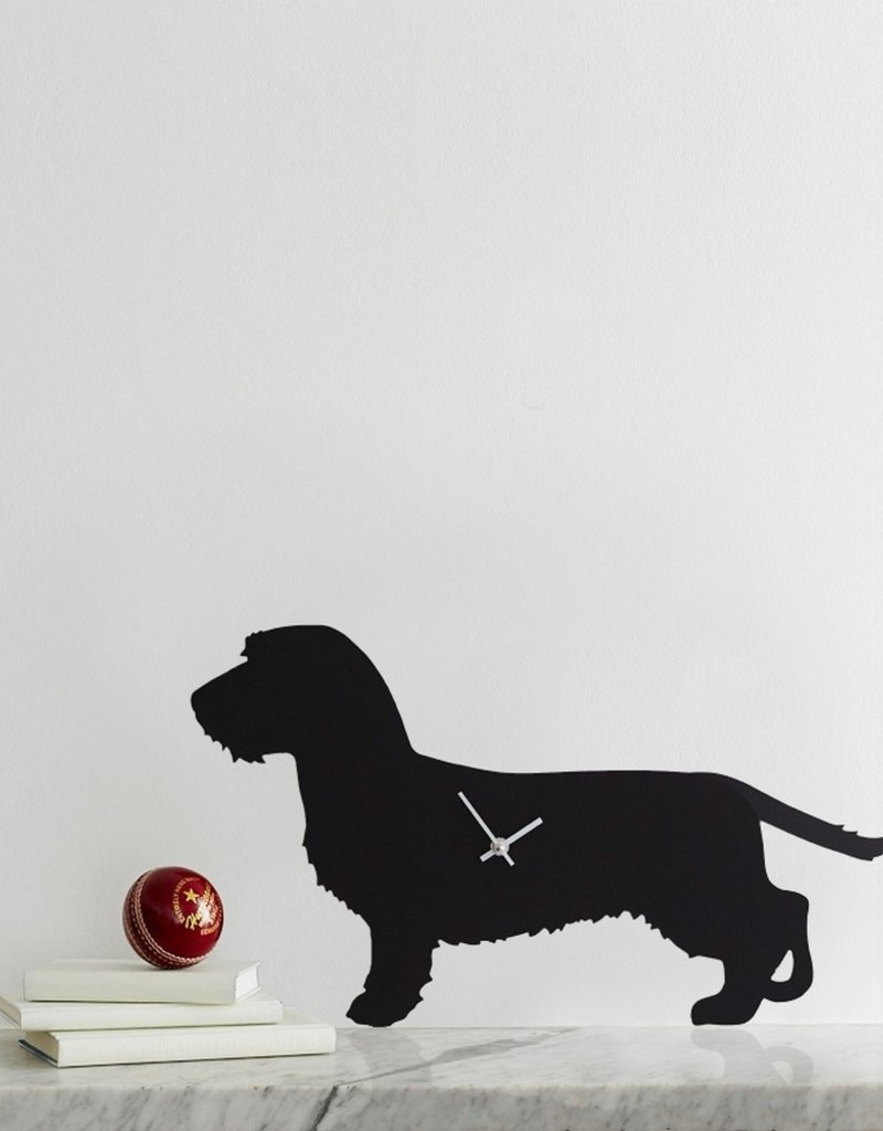 The Labrador Company Klok Ruwharige Teckel Zwart