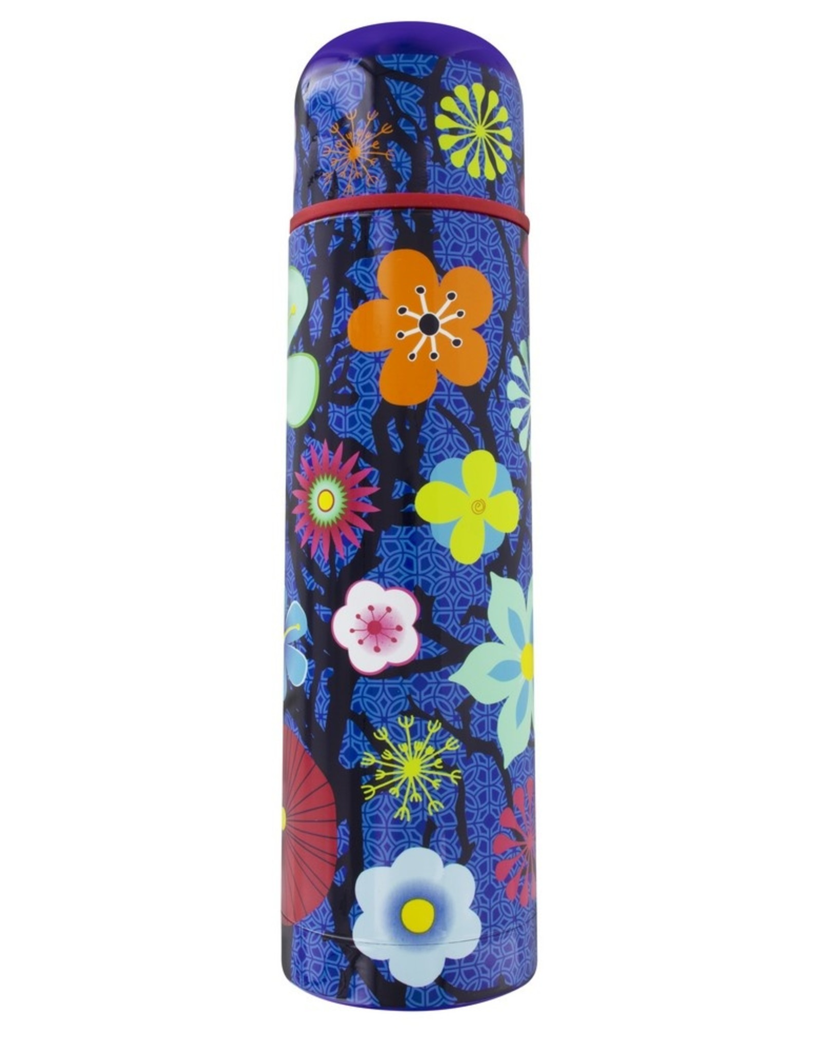 Pylones Thermosfles Bloem Blauw