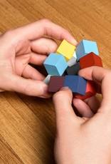 Kikkerland Elastic Cube Hout 3D