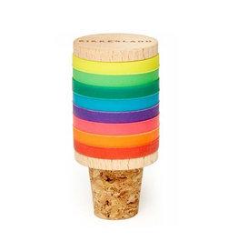 Kikkerland Flessenstop + Markers Rainbow