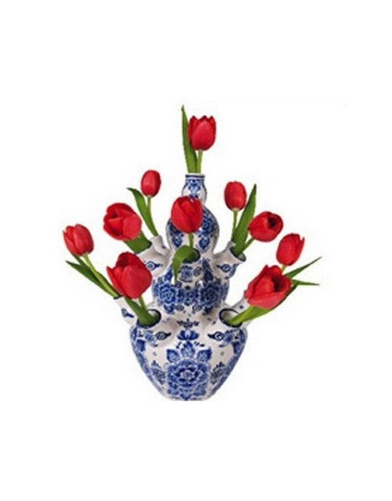 Flat Flowers Flat Flowers Delft Red