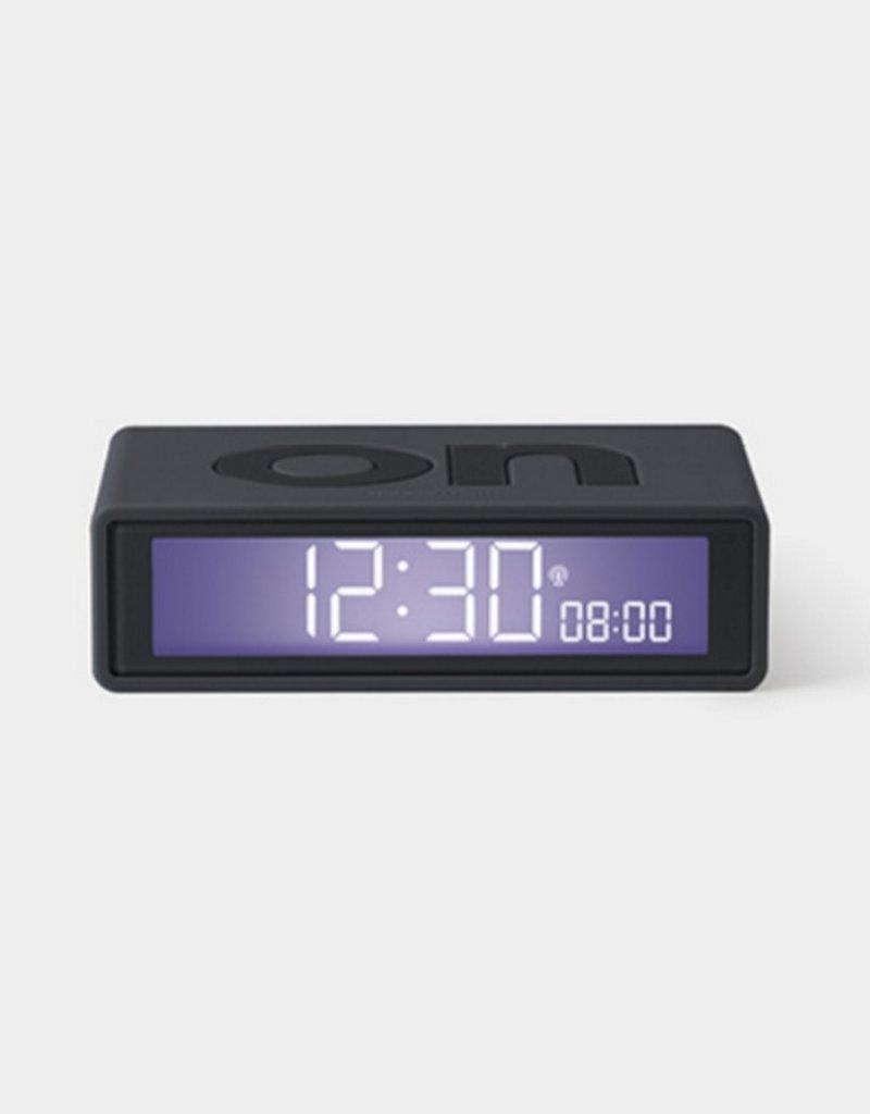 Lexon Alarm Clock Flip X Rubber Antraciet
