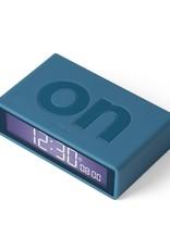 Lexon Alarm Clock Flip X Rubber Blauw