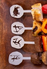 Kikkerland Skewers Stone Age BBQ-pinnen