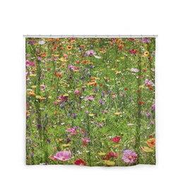 Kikkerland Douchegordijn Flower