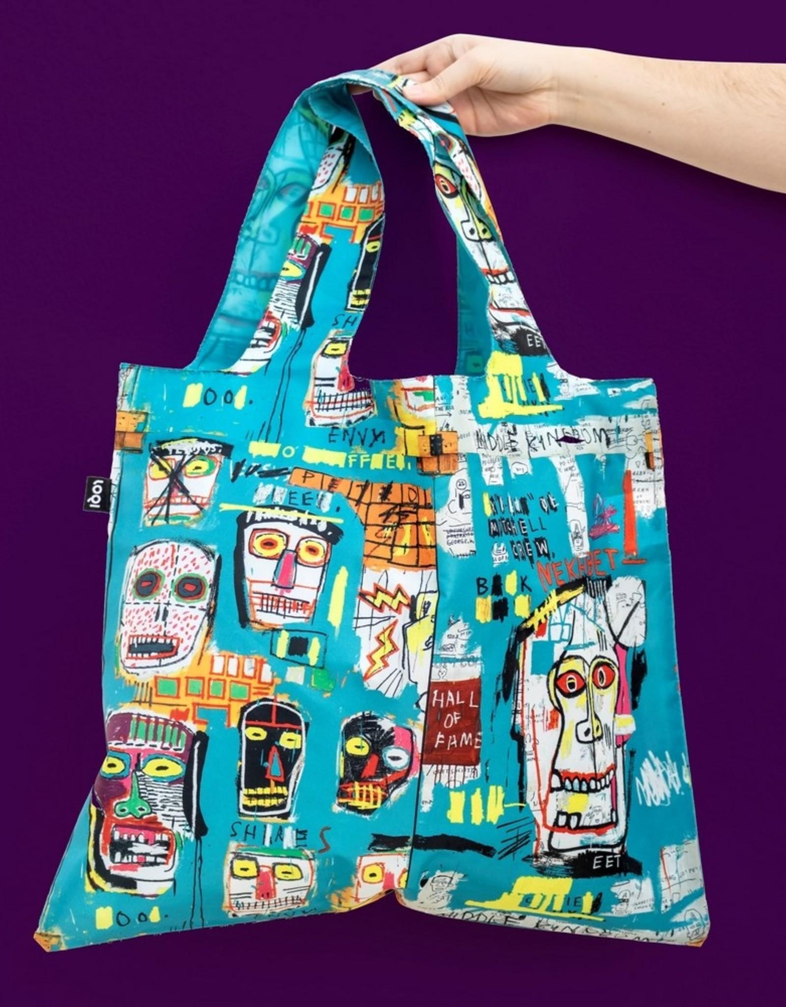 Loqi Opvouwbare Shopper Skull JM Basquiat