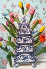 &Klevering Vaas Layer Tulpenvaas Blauw