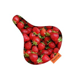 Bike Cap Fiets zadelhoesje Strawberries