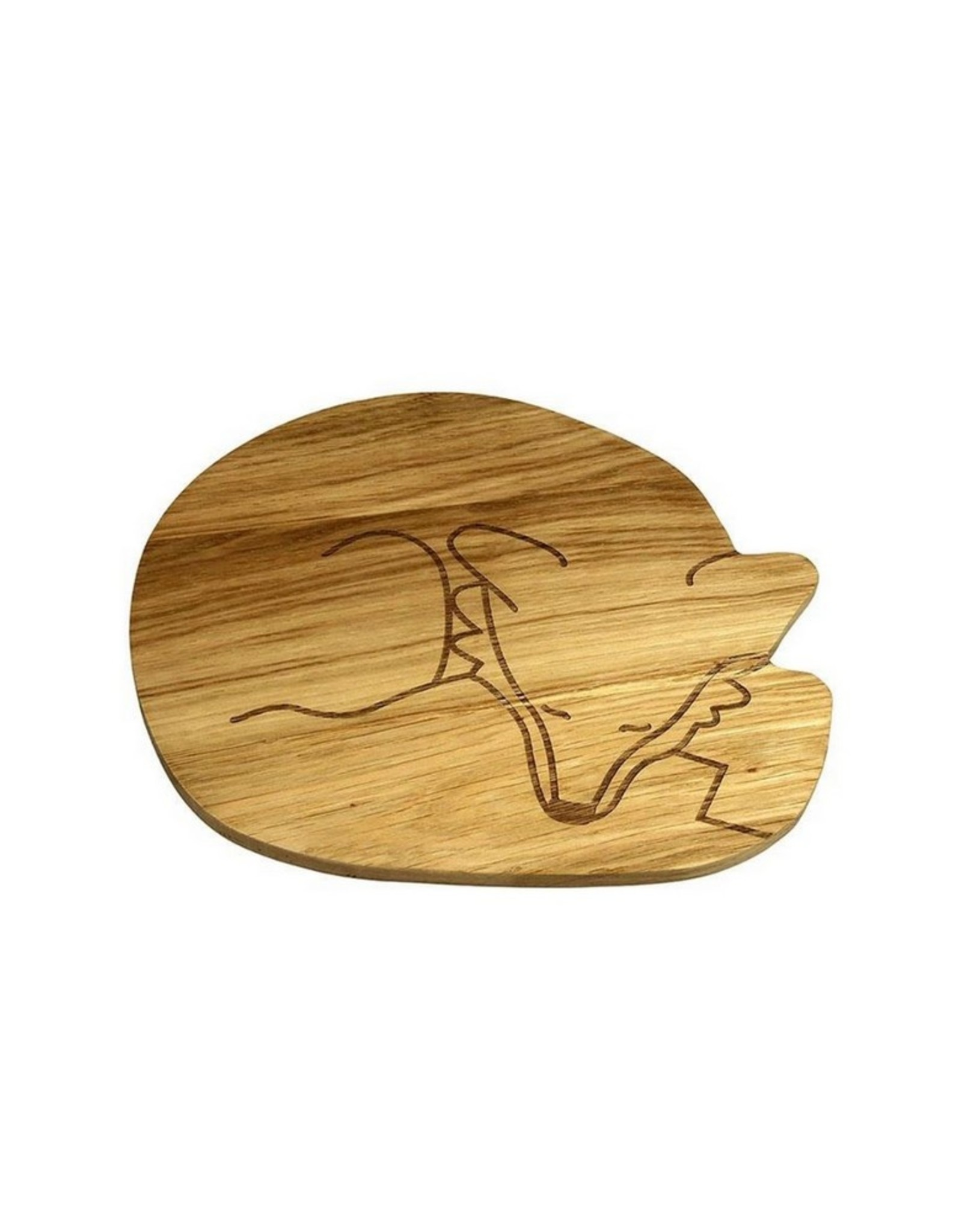 The Zoo Wooden Plate Fox