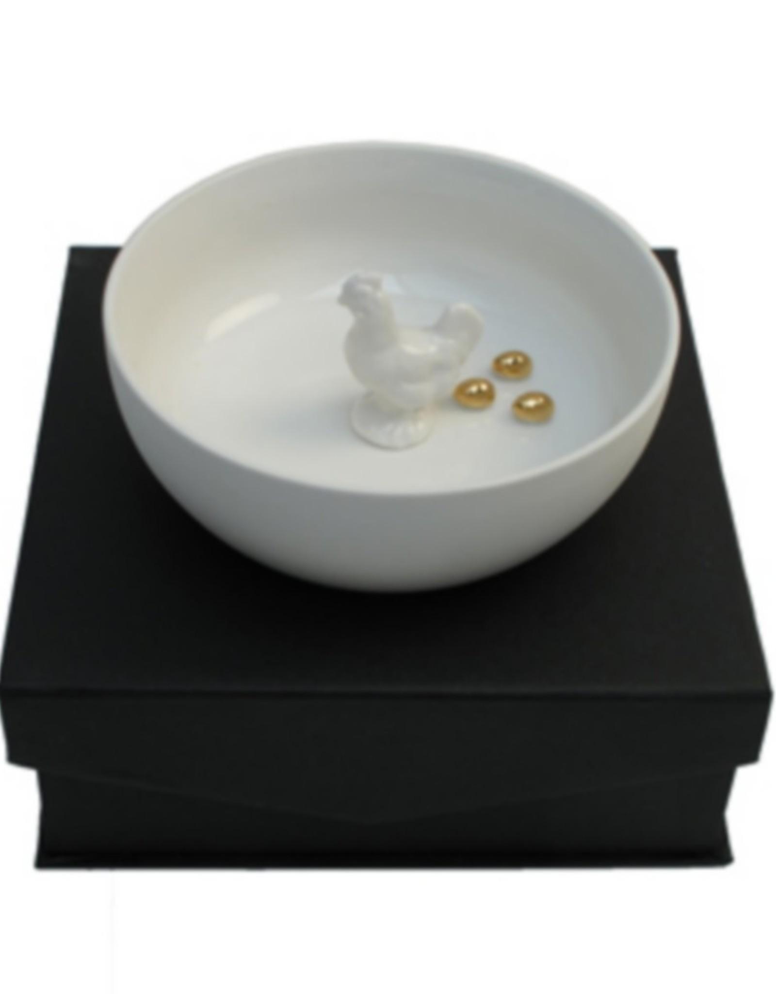 Hollandsche Waaren Schaal Kip met de gouden eieren