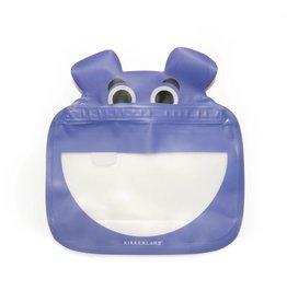 Kikkerland Zipper Bags Hippo 3 stuks