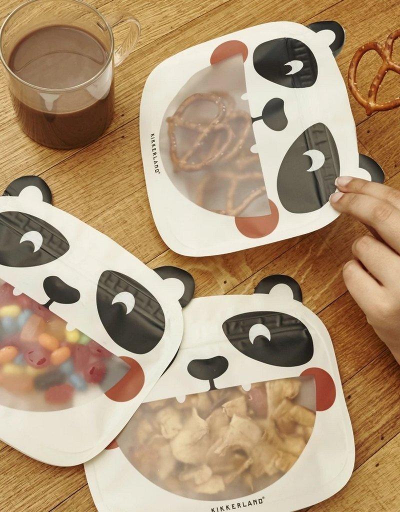 Kikkerland Zipper Bags Panda 3 stuks