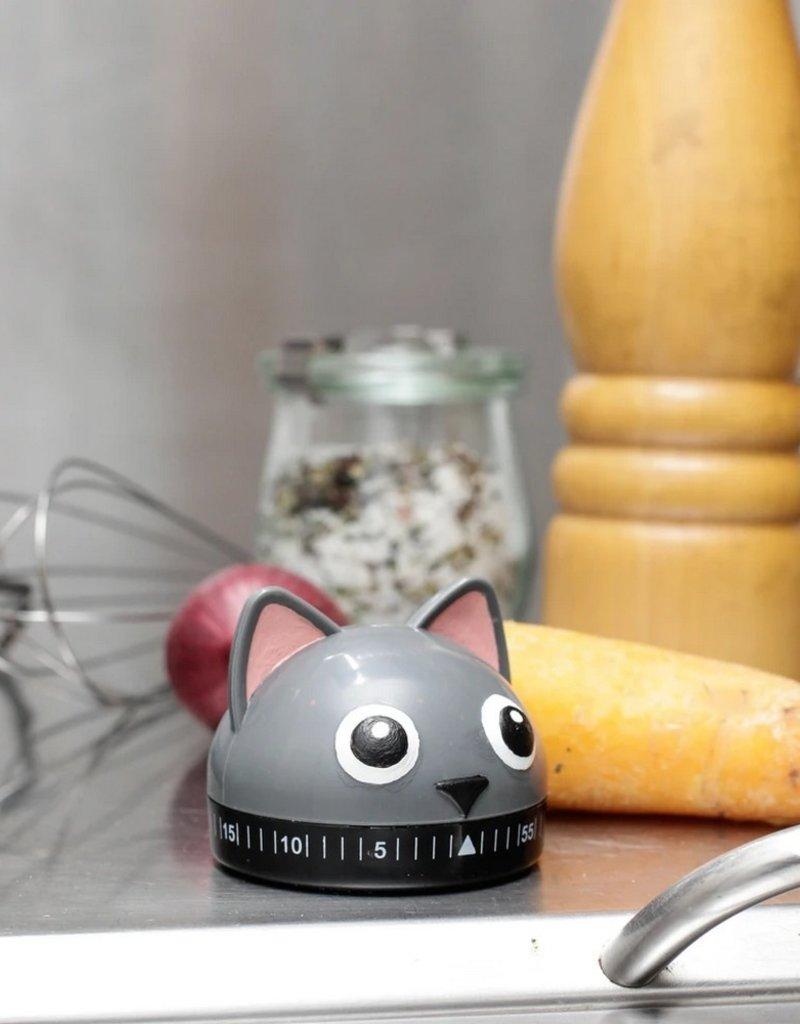 Kikkerland Kitchen Timer Kitty Cat