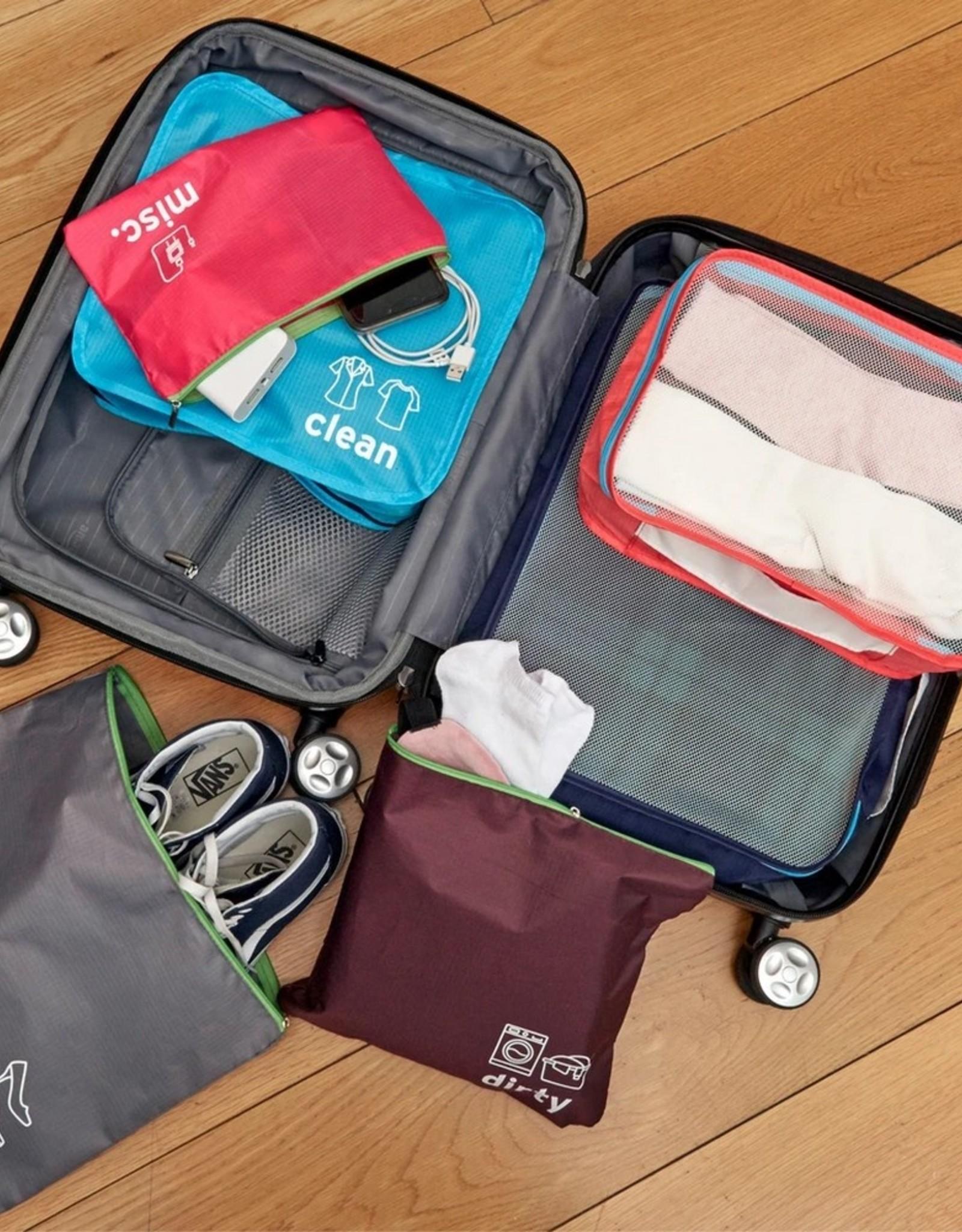 Kikkerland Travel Packing Set set van 6