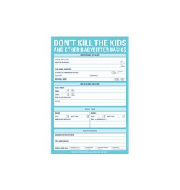 Knockknockstuff Don't Kill the kids and other babysitter basics