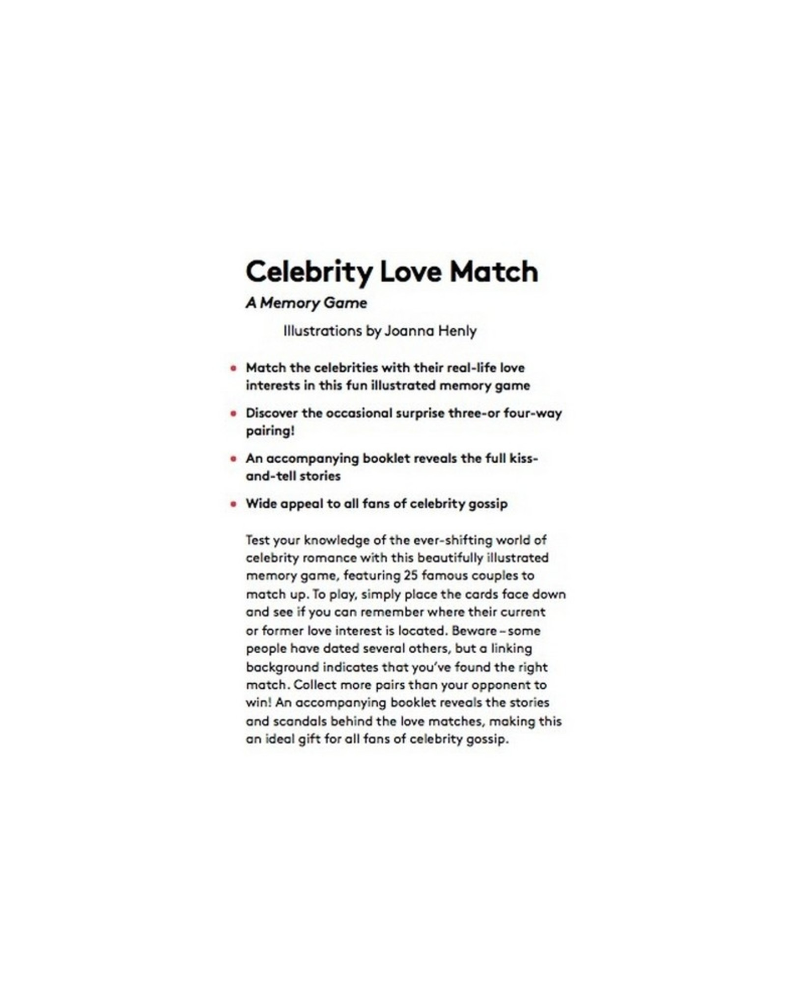 Laurence King Publishing Memory Game Celebrity Love Match