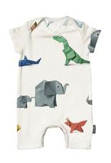 Snurk BV Playsuit Paper Zoo  maat 62