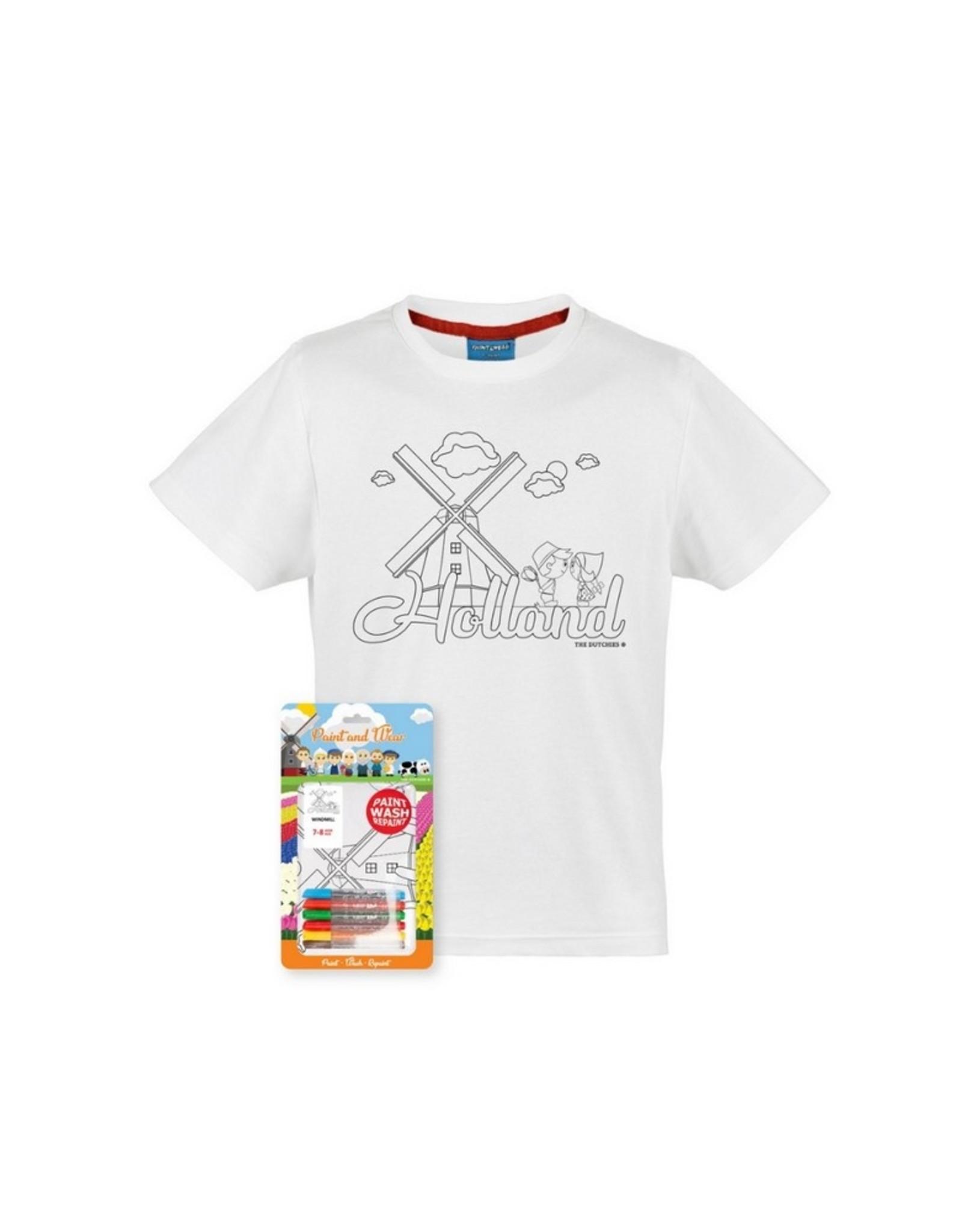 The Dutchies T-shirt Paint and Wear Molen 4-6