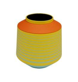 Kare Design Vaas Happy Day Geel 21cm