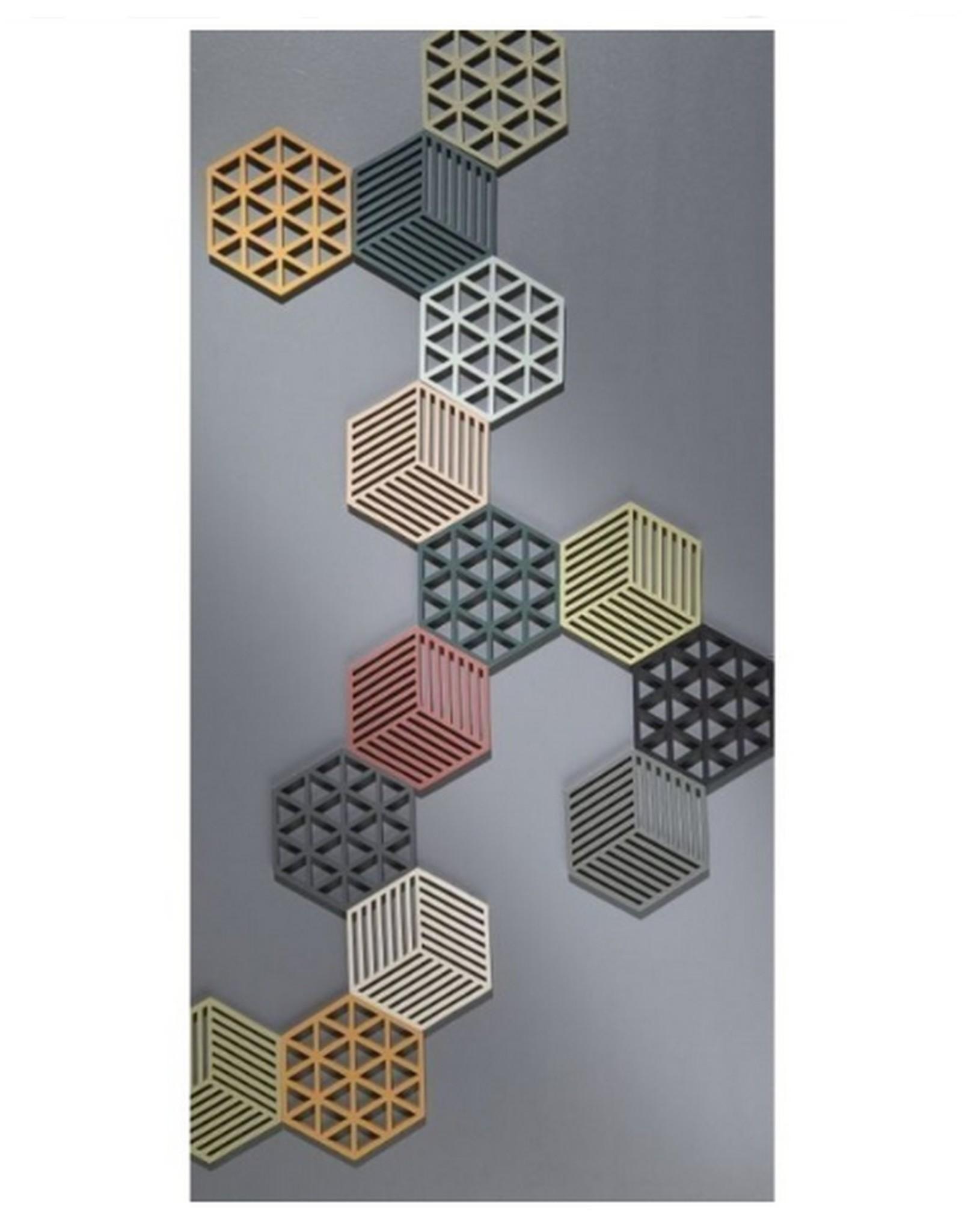 ZONE Denmark Pannenonderzetter Hexagon Black