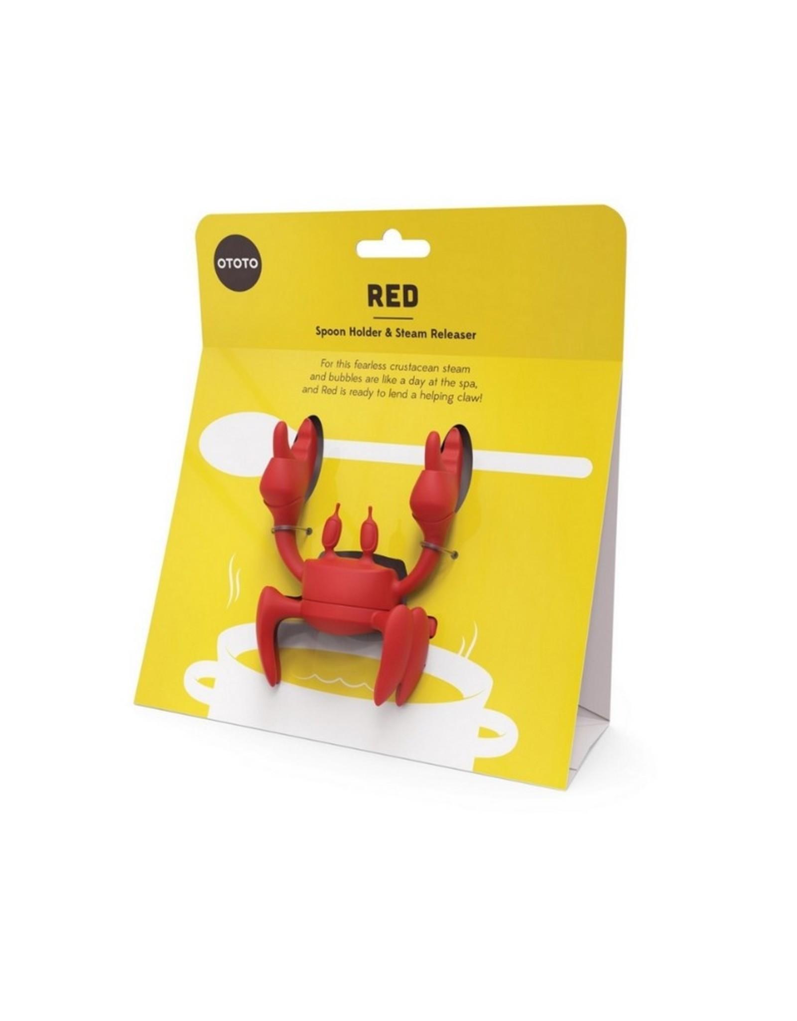 Ototo Red Pollepelhouder en Stoomaflater