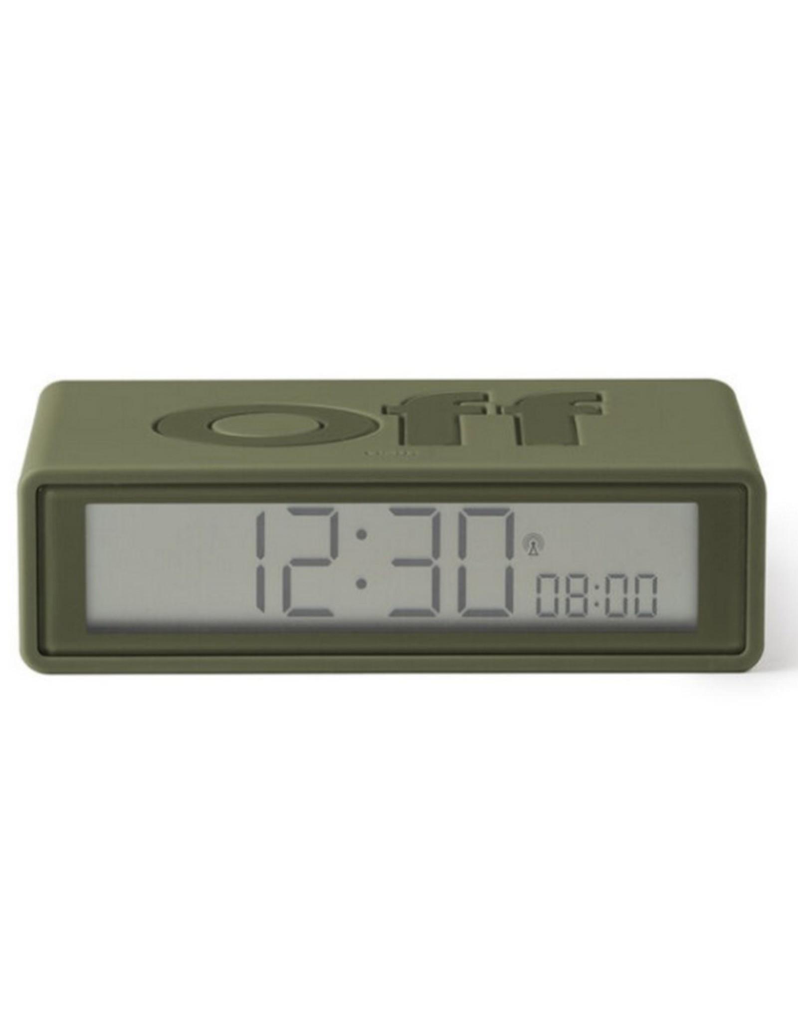 Lexon Alarm Clock Flip + Rubber Groen