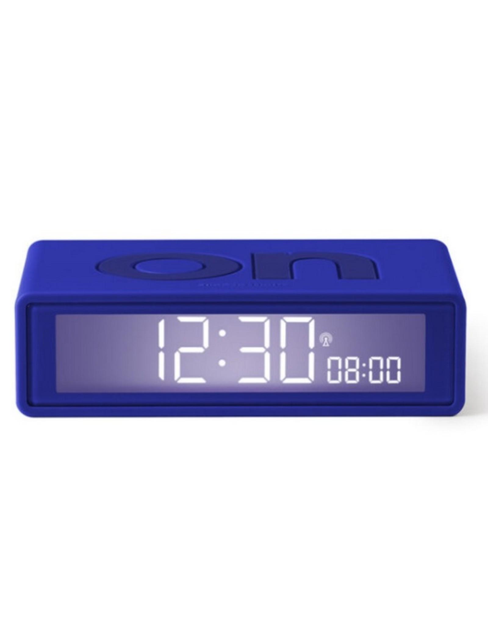Lexon Alarm Clock Flip + Rubber Donker Blauw