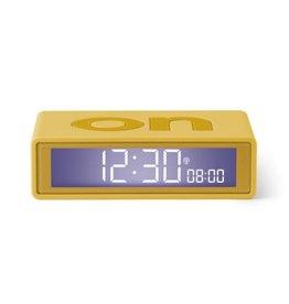 Lexon Alarm Clock Flip + Rubber Geel