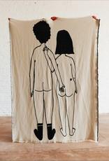 Helen B Plaid Katoen Naked Couple Back 180 x 140 cm