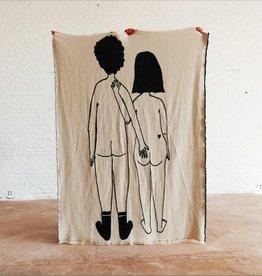 Helen B Plaid Katoen Naked Couple Back 180 x 140 cm