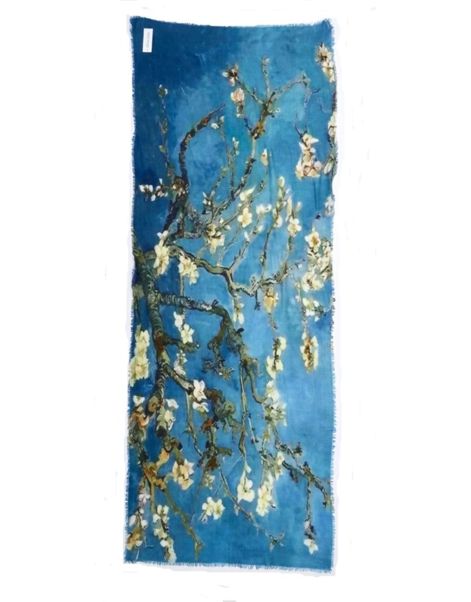 Otracosa Sjaal Van Gogh Amandelbloesem  Blauw 70 x 180