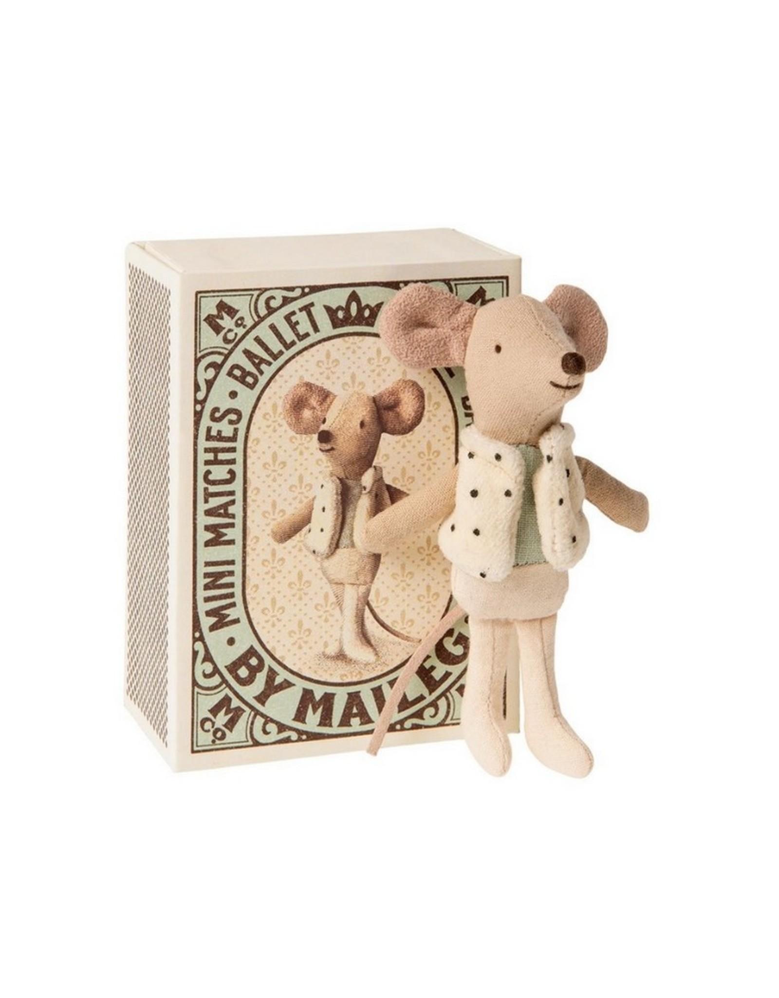 Maileg Knuffel Dancer Mouse in matchbox