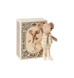 Maileg Knuffel Dancer Mouse in matchbox