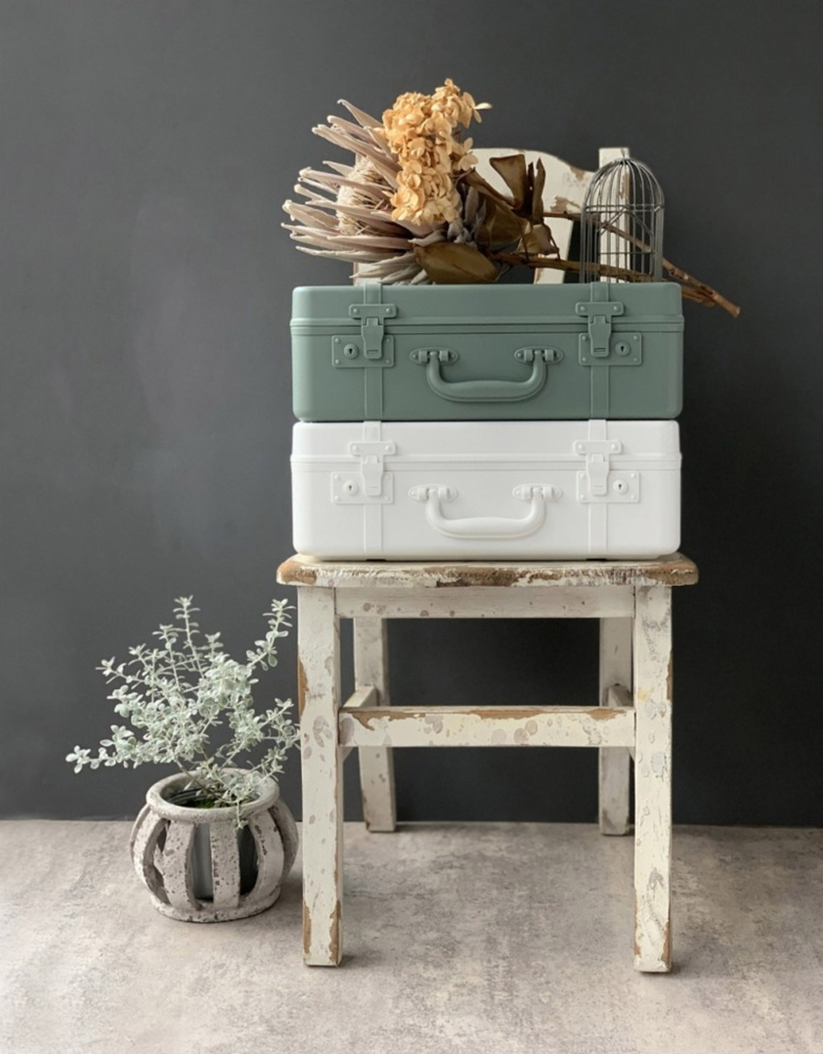 Hachiman Koffer Trunk Story M Baked Green