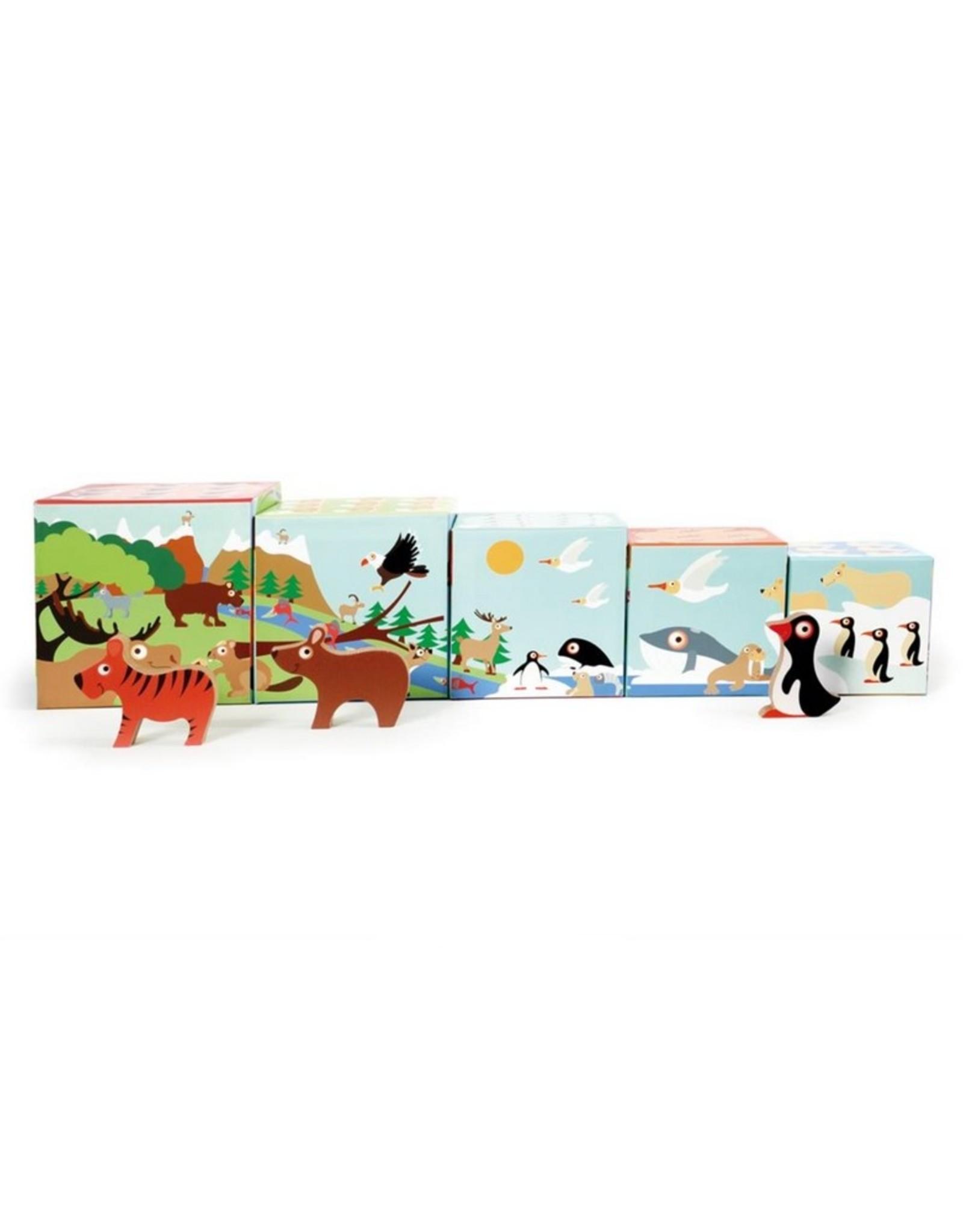Scratch Europe Stapeltoren Dieren incl. 3 houten dieren