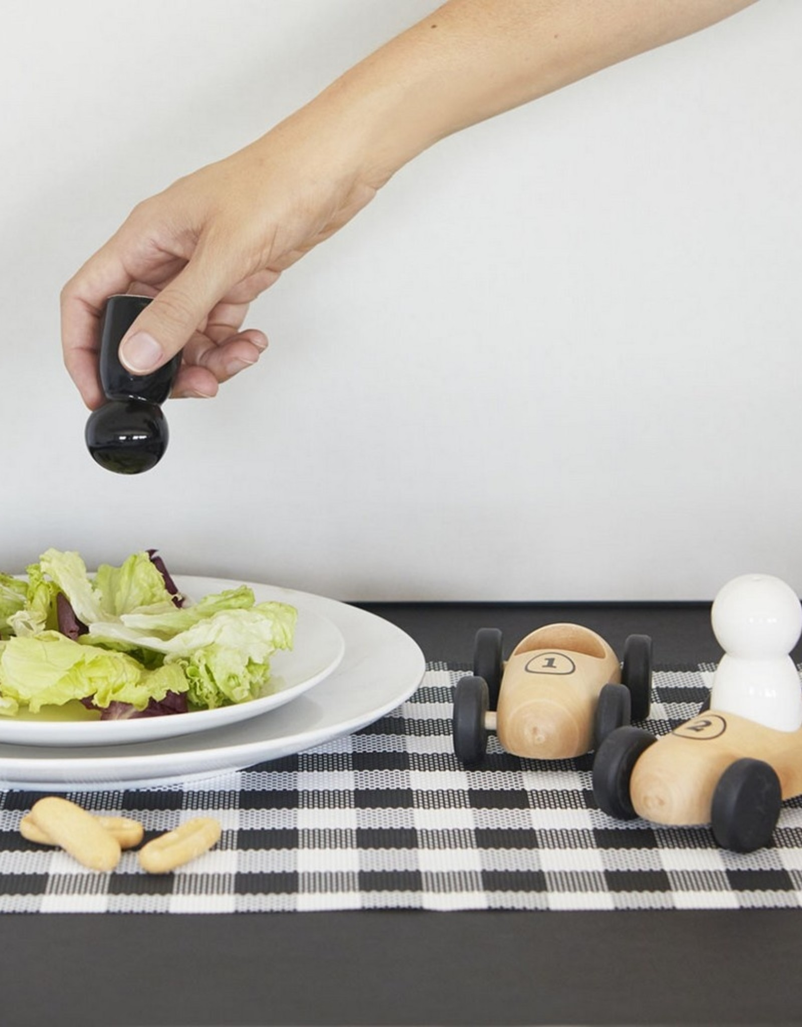 Balvi Peper- en zoutstel Bolides Hout Keramiek