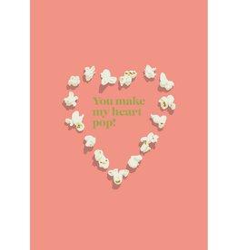 HAVA Creations Kaart met enveloppe Popcorn