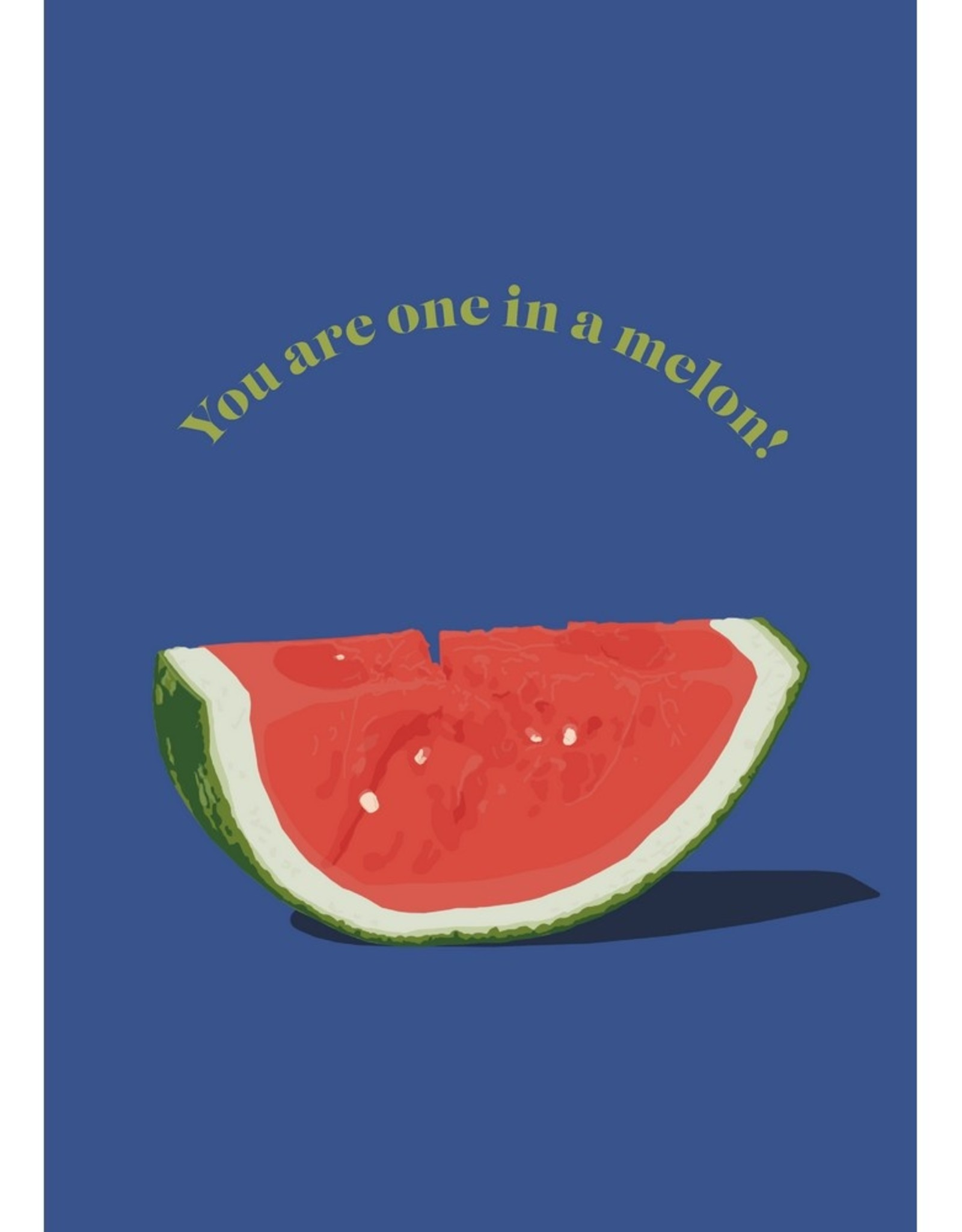 HAVA Creations Kaart met enveloppe Melon
