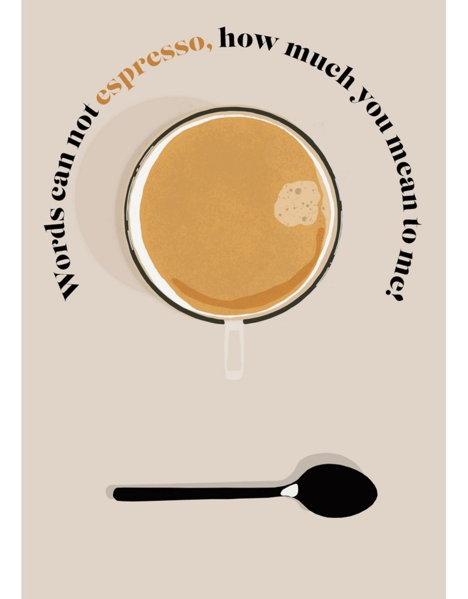 HAVA Creations Kaart met enveloppe Espresso