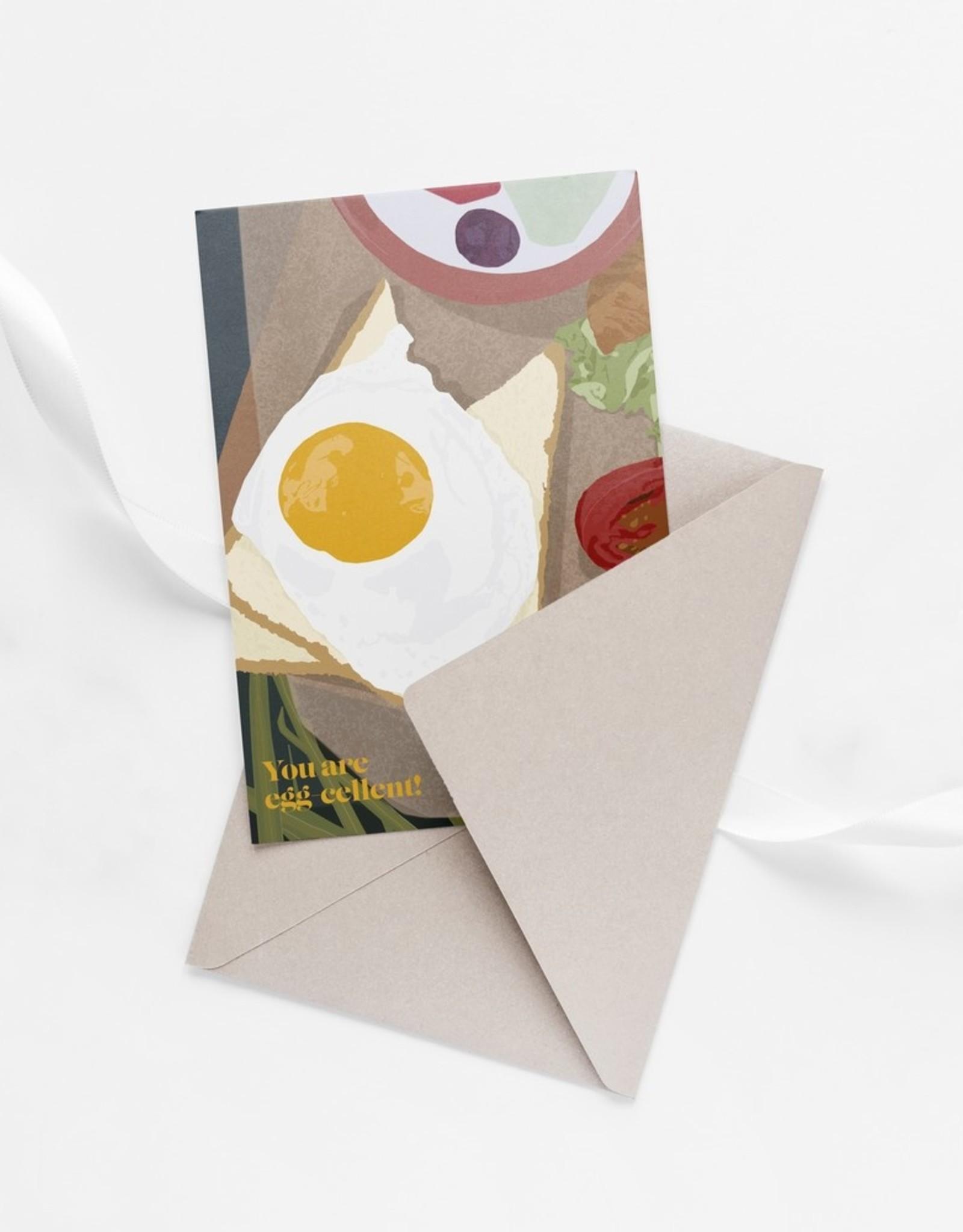 HAVA Creations Kaart met enveloppe Eggcellent
