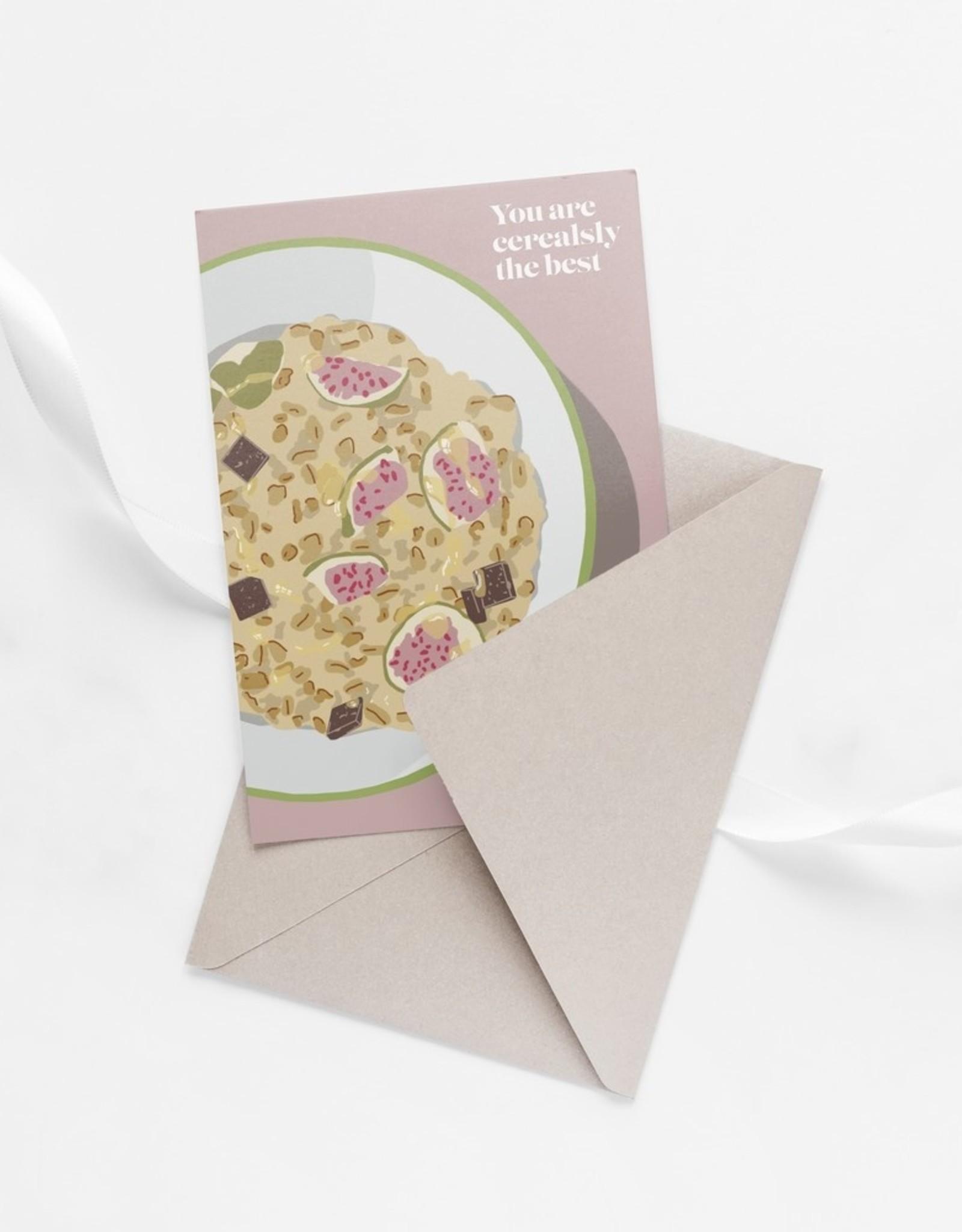 HAVA Creations Kaart met enveloppe Cerealsly