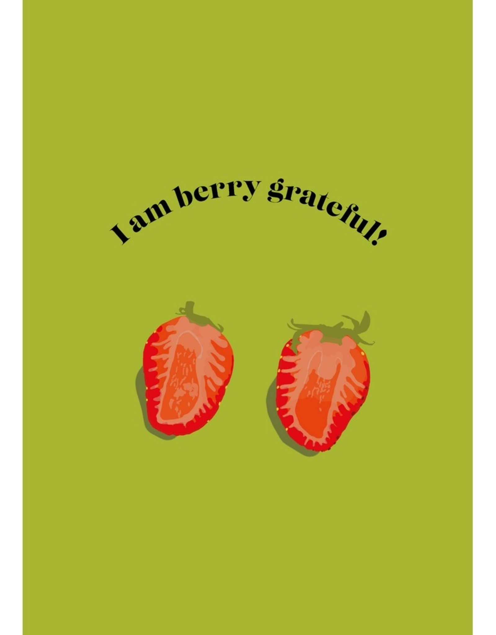 HAVA Creations Kaart met enveloppe Berry