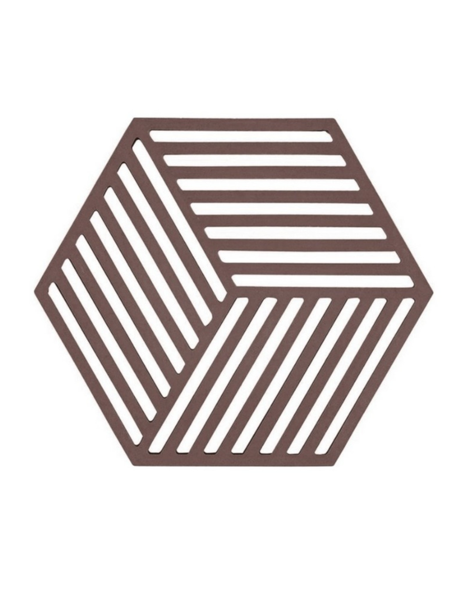 ZONE Denmark Pannenonderzetter Hexagon Chocolate